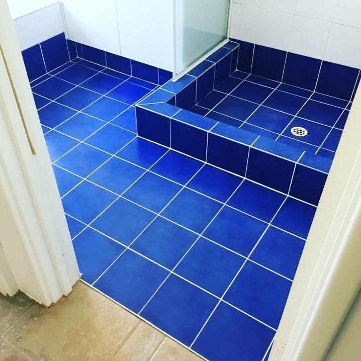 Bathroom floor and shower tile cleaning and mould removal